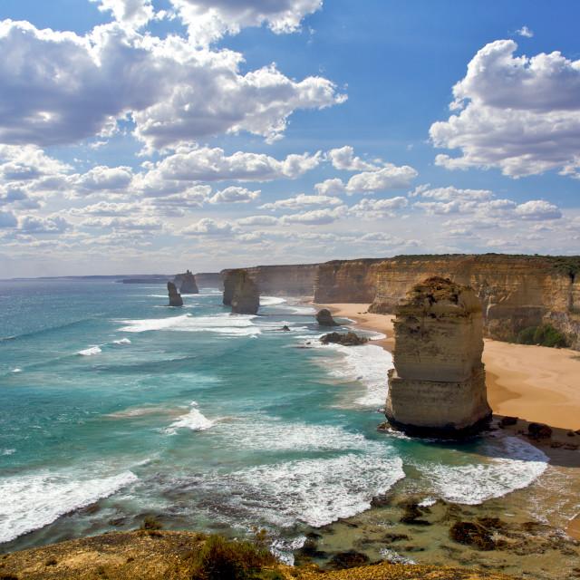 """""""Twelve Apostles Scenic View, Australia"""" stock image"""
