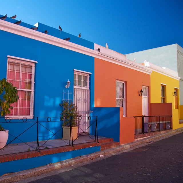 """Bo Kaap District Cape Town Western Cape Province South Africa"" stock image"