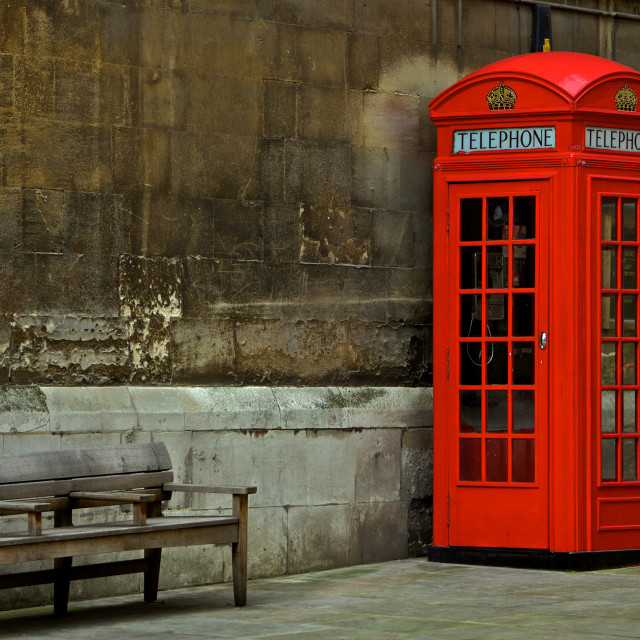 """British Phone Booth"" stock image"