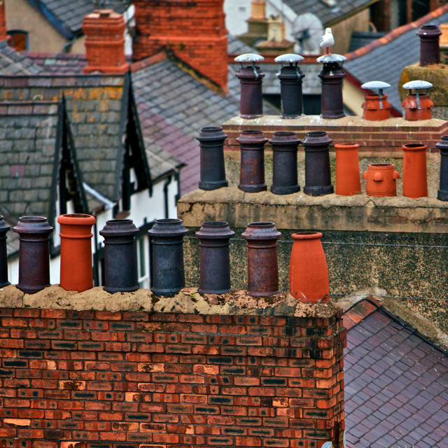 """Old Chimneys"" stock image"