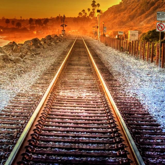 """Railroad Tracks"" stock image"