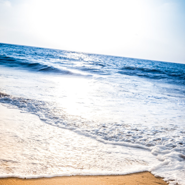 """""""Worry written into the sand on a beach"""" stock image"""