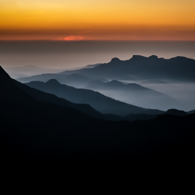 """Sunrise from Adam's Peak Sri Lanka"" stock image"