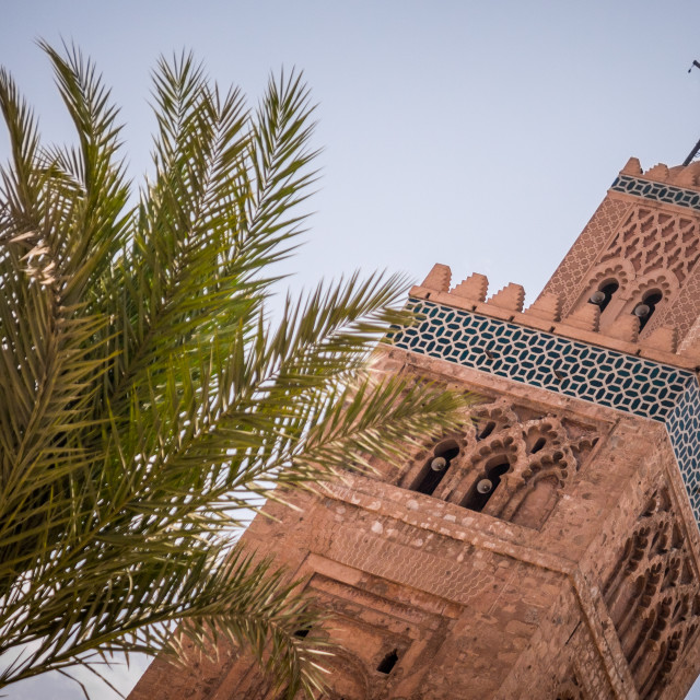 """""""Mosque tower in Marrakesh Morocco"""" stock image"""