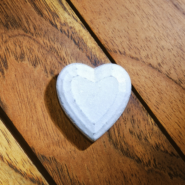 """white heart with wooden background"" stock image"