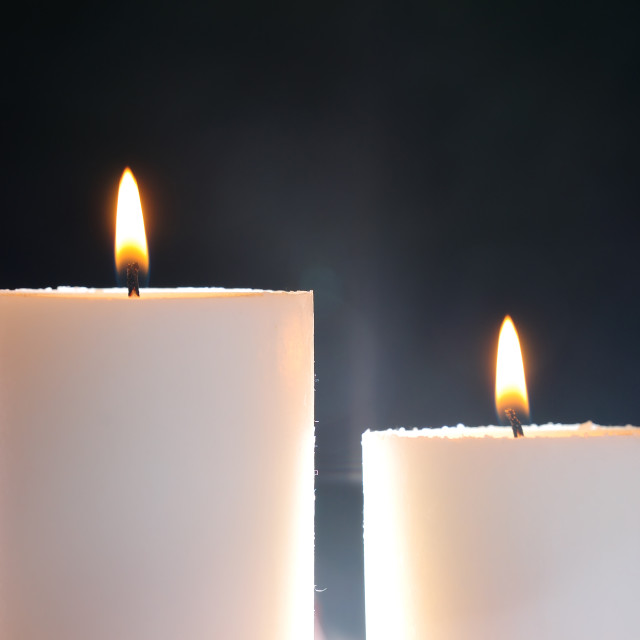 """two candles and aura"" stock image"