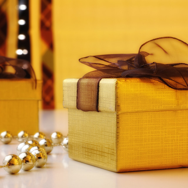 """two gift boxes"" stock image"