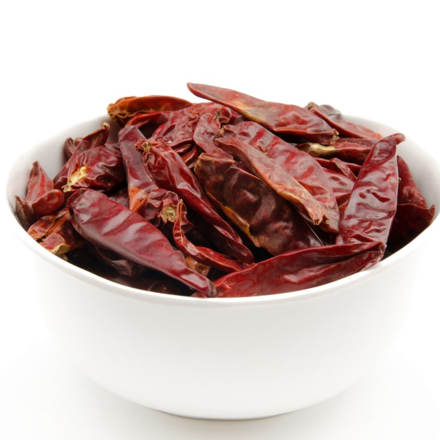 """""""Several cayenne peppers"""" stock image"""