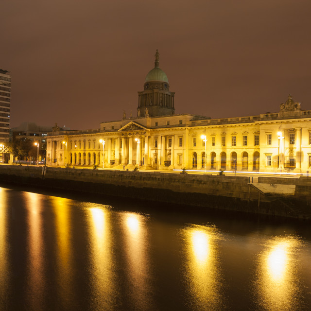 """Dublin Custom House"" stock image"