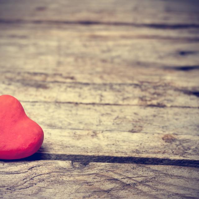 """Heart on wood"" stock image"