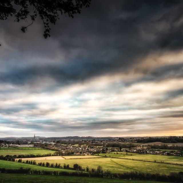 """Last Light Over Salisbury"" stock image"