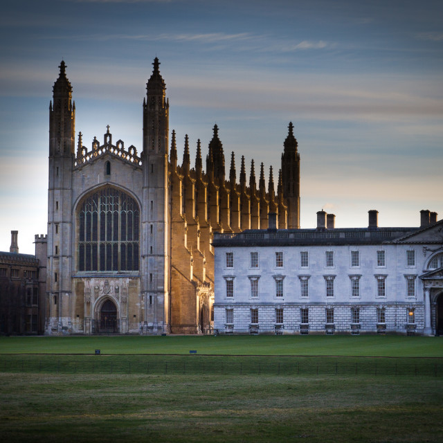 """King's College Icy Dawn"" stock image"