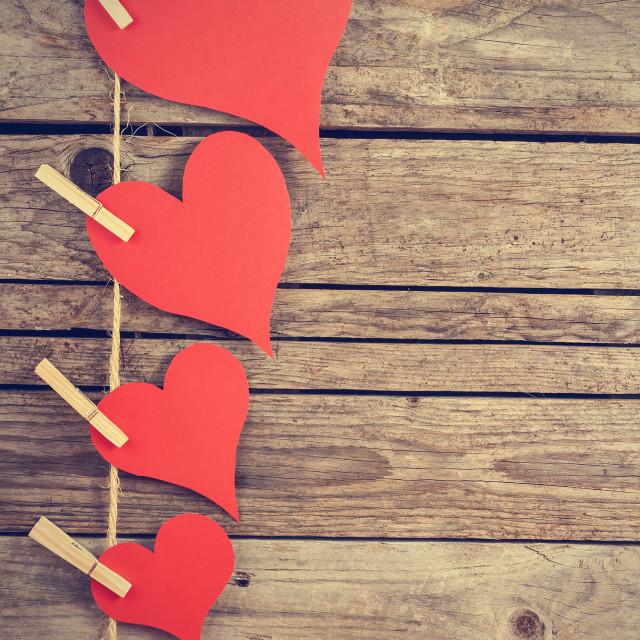 """Vintage hearts"" stock image"