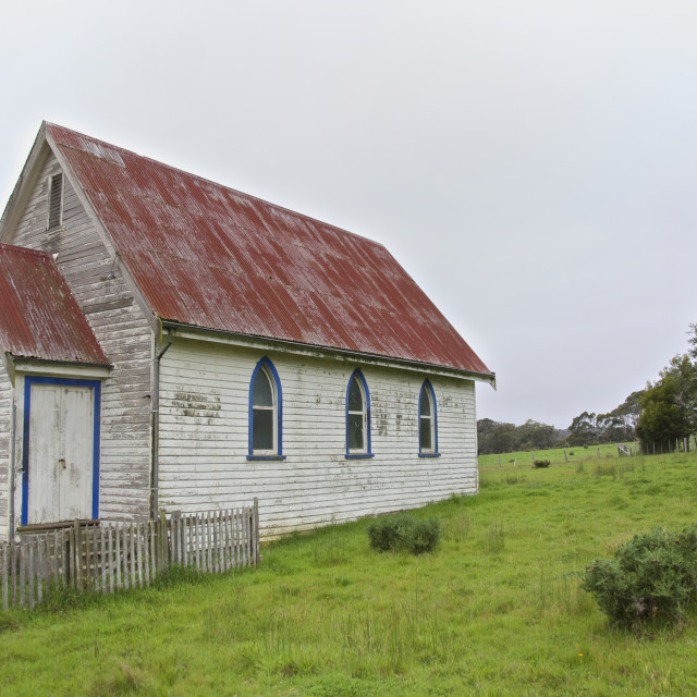 """""""Old weathered church"""" stock image"""