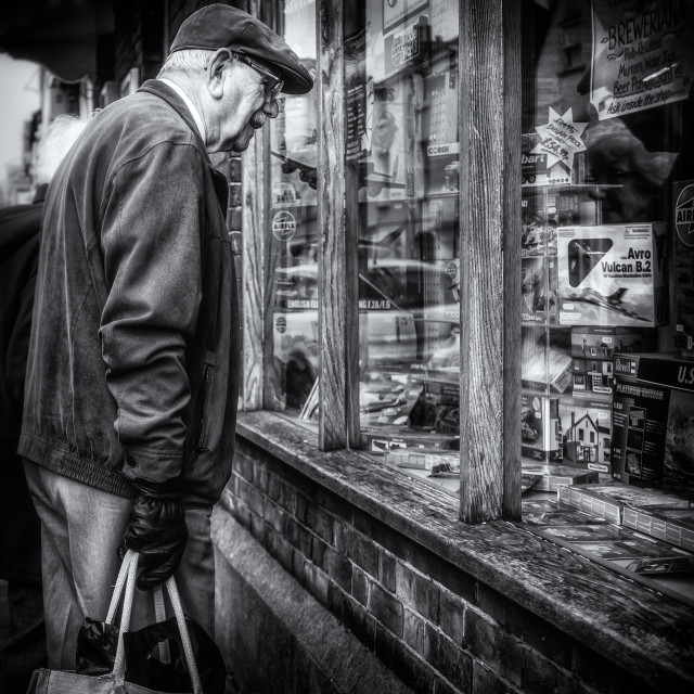 """Browsing the Model Shop Window"" stock image"