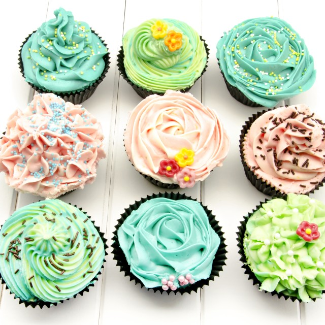 """Cupcakes decorated"" stock image"