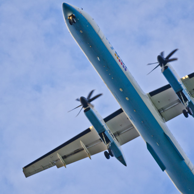 """Plane Overhead"" stock image"