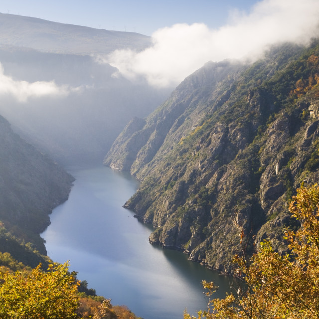 """Sil river canyon, in Orense, Spain"" stock image"