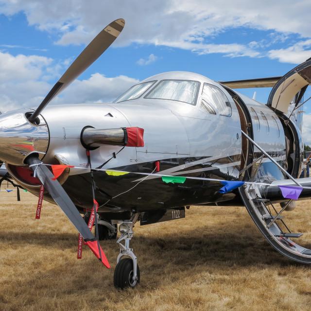 """""""Pilatus aircraft"""" stock image"""