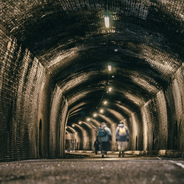 """Tunnel Walkers"" stock image"