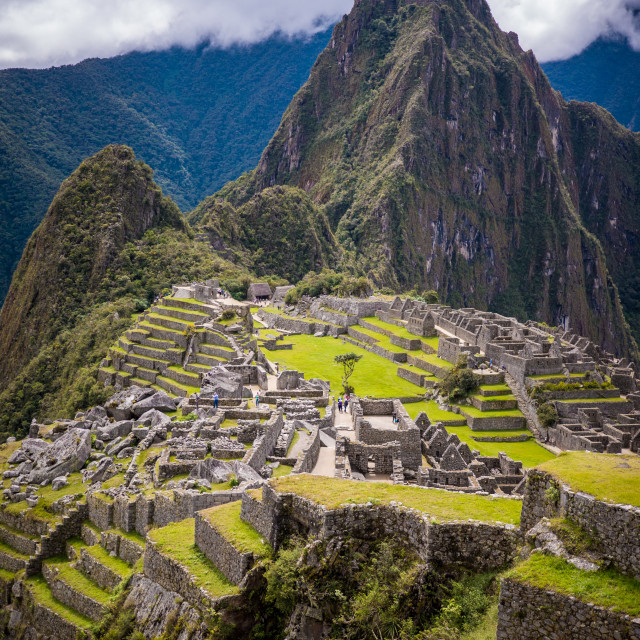 """The ruins of Machu Picchu"" stock image"