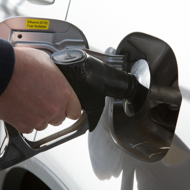 """Petrol, Filling Station"" stock image"