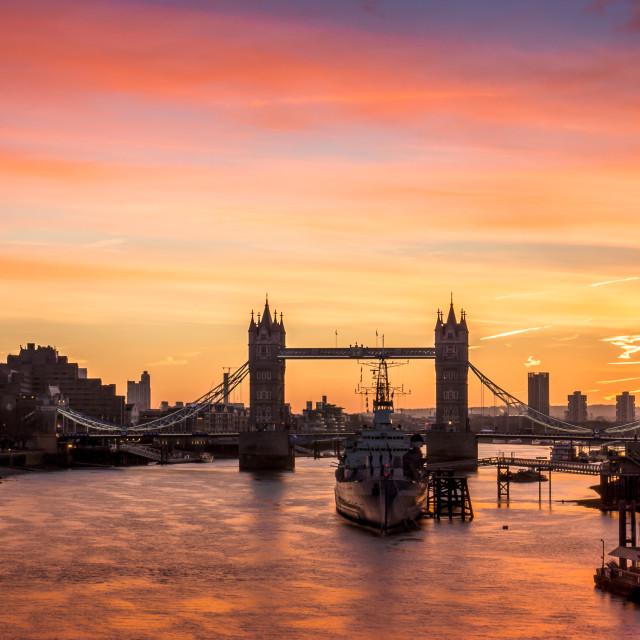 """Good Morning London"" stock image"