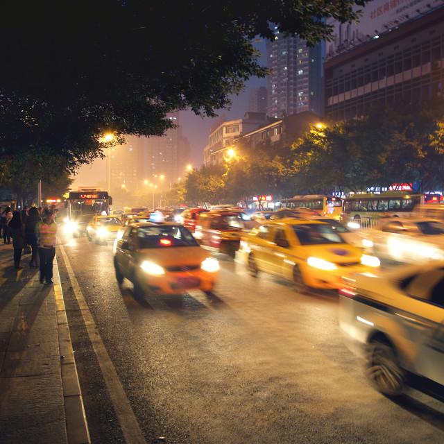 """""""Chongqing Traffic"""" stock image"""