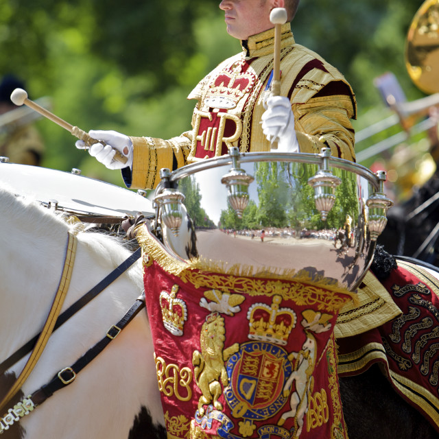 """""""Trooping of the Colour"""" stock image"""