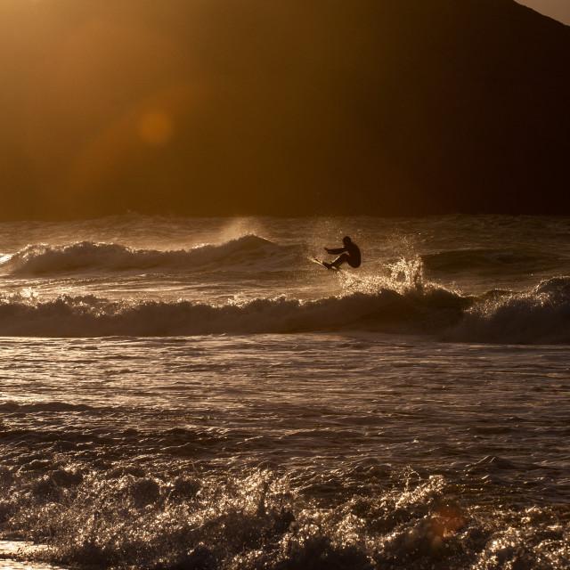 """Winter surfing"" stock image"