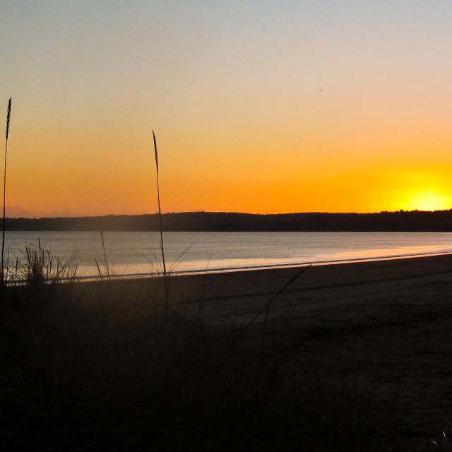 """Sunset Swansea Bay"" stock image"