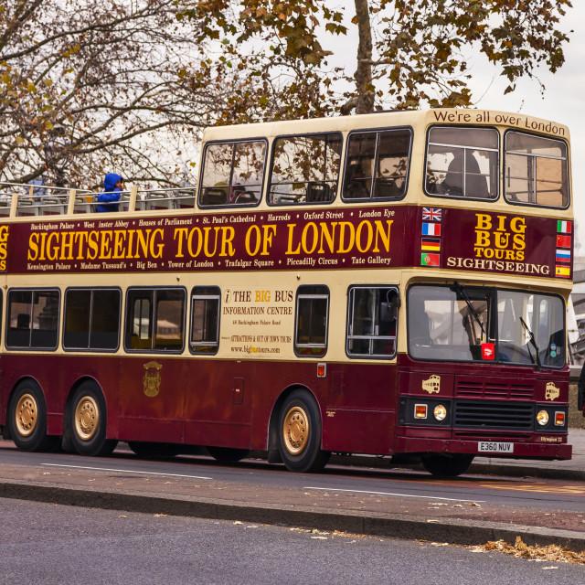 """Open Top Bus"" stock image"