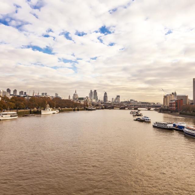 """Londons Skyline"" stock image"