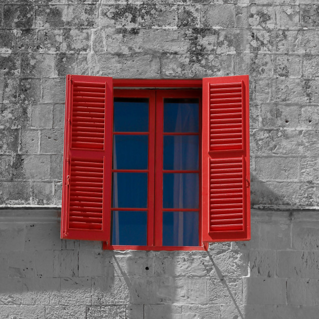 """Red window"" stock image"