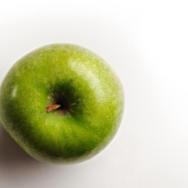 """juicy apple top view"" stock image"