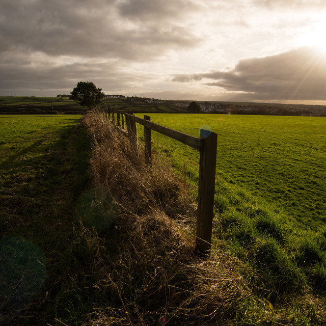 """Low Light on the Fields"" stock image"