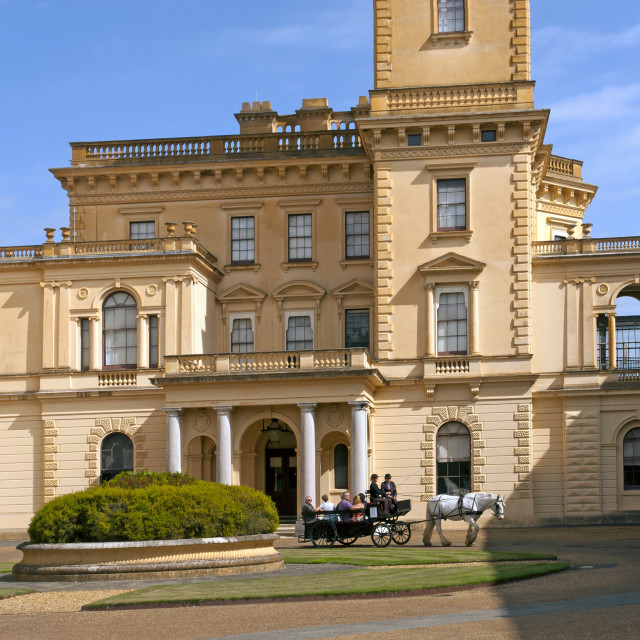 """""""Osborne House, East Cowes, Isle of Wight. Former residence of Queen Victoria and Prince Albert."""" stock image"""