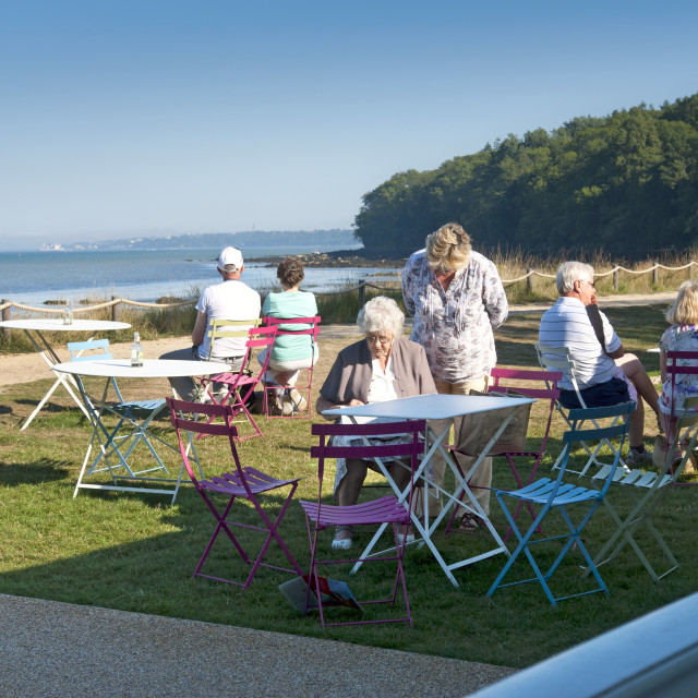 """""""Queen Victoria's private beach at Osborne House, East Cowes, Isle of Wight. Former residence of Queen Victoria and Prince Albert."""" stock image"""