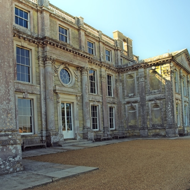 """""""Appuldurcombe House, near Wroxall on the Isle of Wight, which is little more than a shell"""" stock image"""