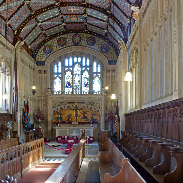 """""""The chapel at Carrisbrooke Castle, near Newport on the Isle of Wight"""" stock image"""