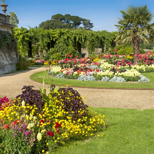 """""""The gardens at Osborne House, East Cowes, Isle of Wight. Former residence of Queen Victoria and Prince Albert."""" stock image"""