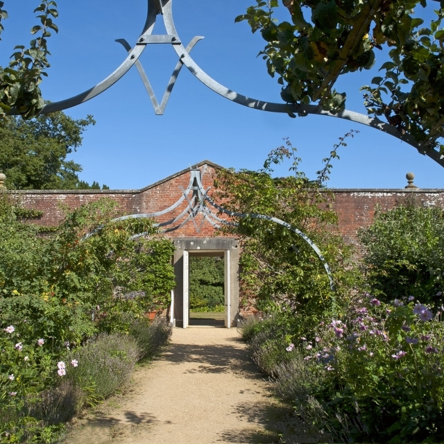 """""""The walled garden at Osborne House, East Cowes, Isle of Wight. Former residence of Queen Victoria and Prince Albert."""" stock image"""