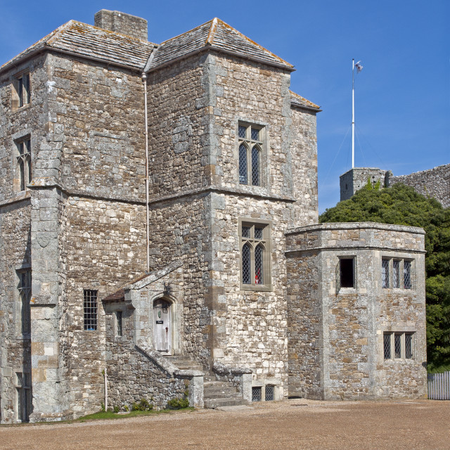"""""""Within the walls of Carrisbrooke Castle, near Newport on the Isle of Wight"""" stock image"""