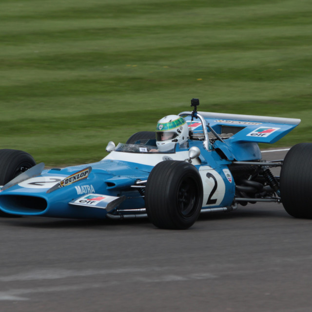 """Jackie Stewart Matra Cosworth MS80"" stock image"