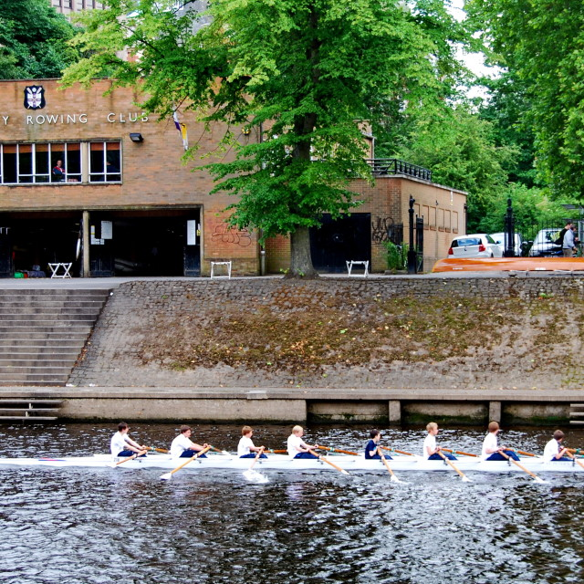 """York City Rowing Club"" stock image"
