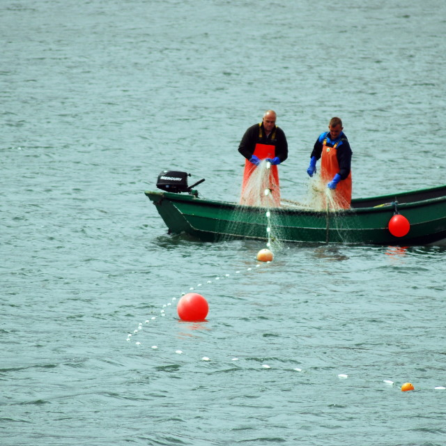 """Scarborough Fishermen"" stock image"