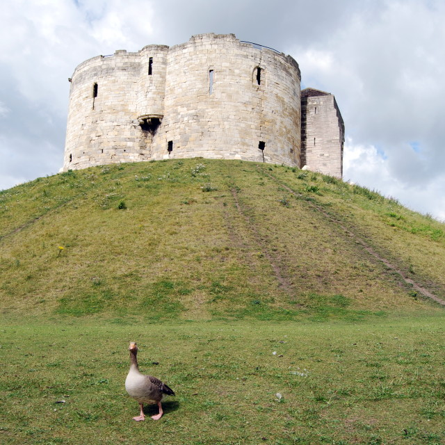 """York Castle - Clifford's Tower"" stock image"