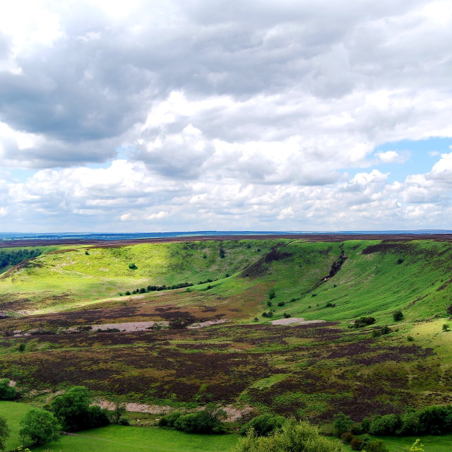 """The Hole of Horcum aka 'The Devil's Punchbowl'"" stock image"