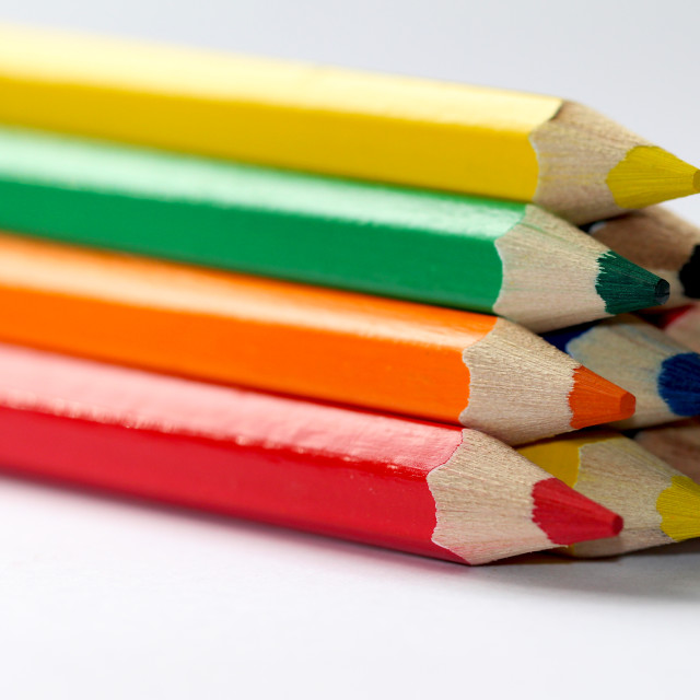 """""""Colourful drawing pencils"""" stock image"""