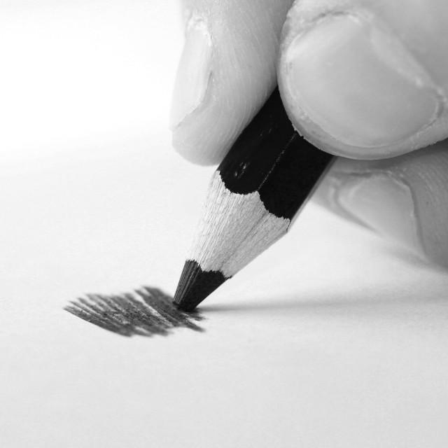 """Hand doodling"" stock image"